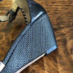 Sam Edelman Shoes - Sam Edelman Ankle Strap Whip Stitch Wedge Sandals